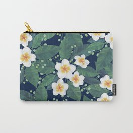 Plumeria Pattern Carry-All Pouch