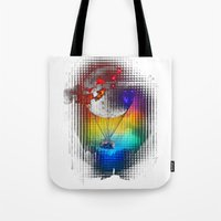 baloon Tote Bags featuring TERROR AIR BALOON by immiggyboi90