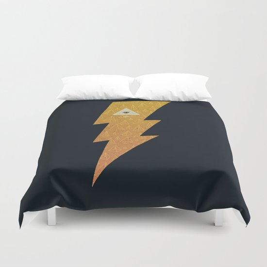 Something with lightning and stuff Duvet Cover