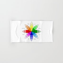 Love and Emotion Valentines Color Wheel Hand & Bath Towel