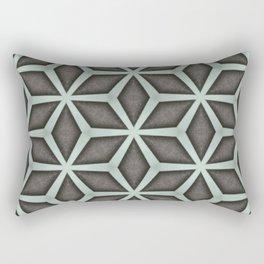 Mint Green, Cream & Chocolate Brown No. 7 Rectangular Pillow