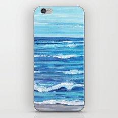 Choppy Ocean Painting iPhone & iPod Skin