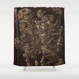Moria taxi troll Shower Curtain