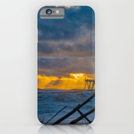 Storm Surf at Sunset iPhone Case