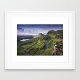 The Road to the Quiraing Framed Art Print