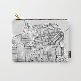 Scandinavian map of San Francisco Penninsula Carry-All Pouch