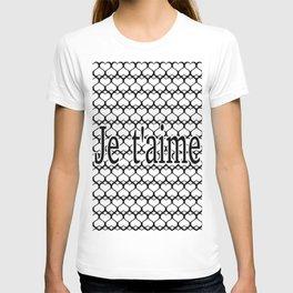 Je t'aime Pattern T-shirt