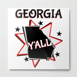 Georgia State Y'all Metal Print