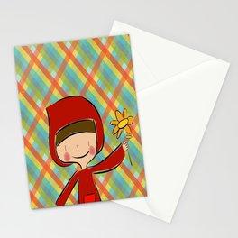 Caperucita Roja con flor Stationery Cards