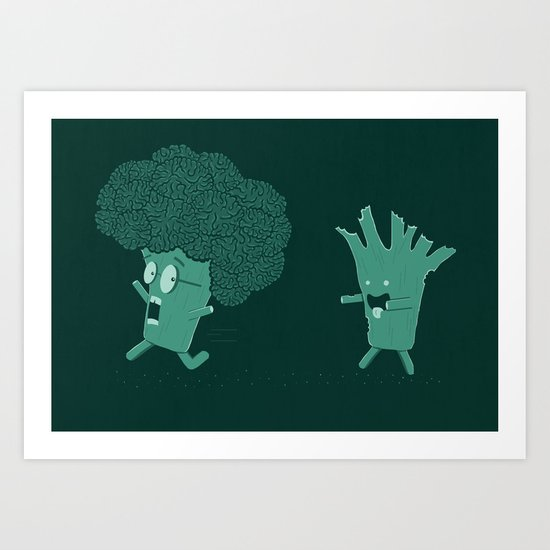 So Many Brains! Art Print