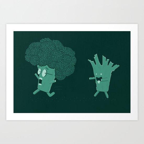 So Many Brains! Art Print