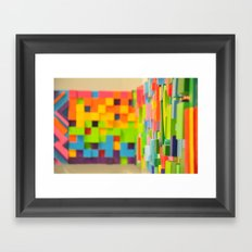 Wall Scape Framed Art Print
