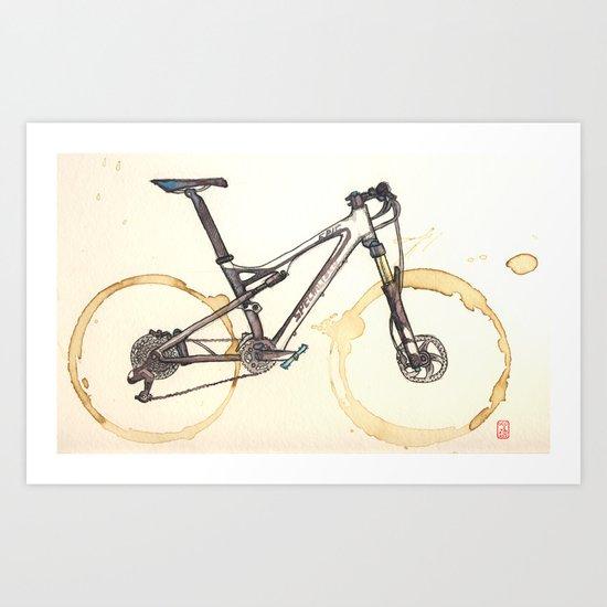 Coffee Wheels #03 Art Print