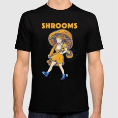 Srooms X-LARGE Mens Fitted Tee Black