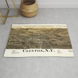Aerial View of Clinton, New York (1885) Rug