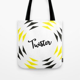 Twister Design Yellow n Black Tote Bag
