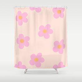Retro 60's Flower Power 4 Shower Curtain