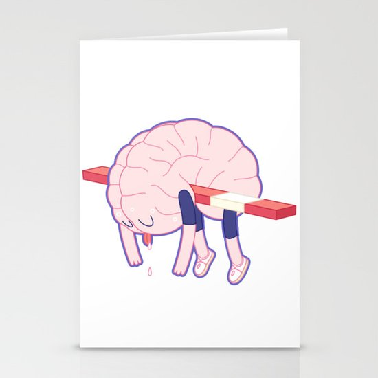 Tired Brain Stationery Cards