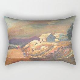 One Village Sunset Rectangular Pillow