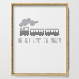 On My Way To Work - Commuter Retro Steam Train Serving Tray