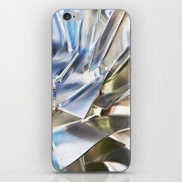 Blades of metal impeller iPhone Skin
