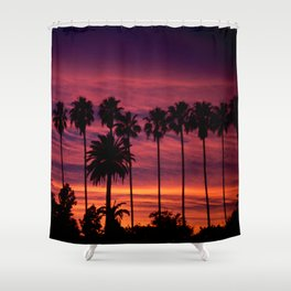 Sunset over Hollywood Shower Curtain