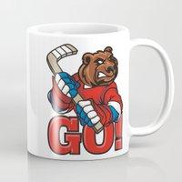 hockey Mugs featuring HOCKEY by solomnikov