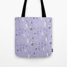 Letter Patterns, Part E Tote Bag