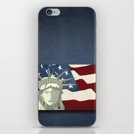 Statue of Liberty American Flag iPhone Skin