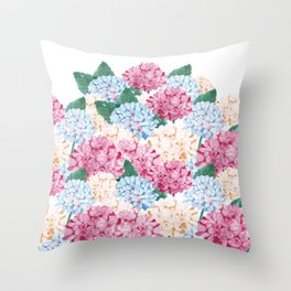 Hydrangea Art Throw Pillow