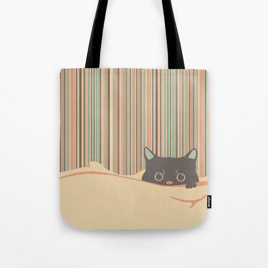 Kitty in the blanket Tote Bag