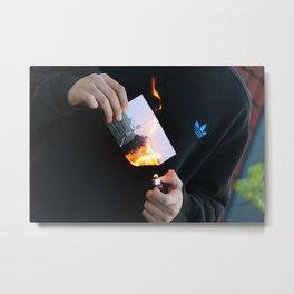 fire photo Metal Print