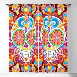 Sugar Skull (Trip the Light) Blackout Curtain
