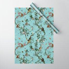 Monkey World Aqua Wrapping Paper