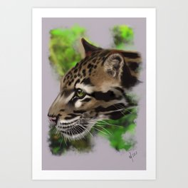 Clouded Leopard (digital) Art Print