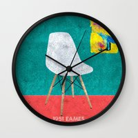 eames Wall Clocks featuring Eames Chair  by Xchange Art Studio
