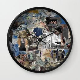 Untitled Digital Collage Wall Clock