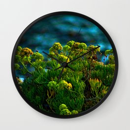 Samphire Flowering Coastal Plant Flowers Wall Clock