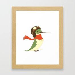 Aviator Hummingbird Framed Art Print