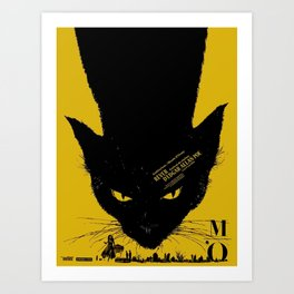 Vintage poster - Black Cat Art Print