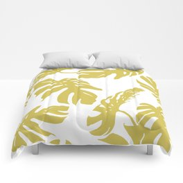 Simply Mod Yellow Palm Leaves Comforters