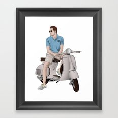 Vespa Lover Framed Art Print