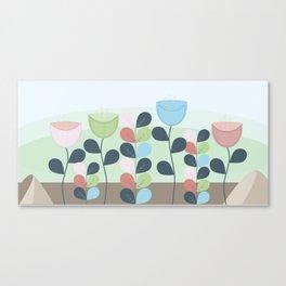 Scandi Flowers Canvas Print