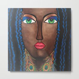 Beautiful Black Woman Metal Print