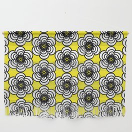 Yellow and Black Flowers Wall Hanging
