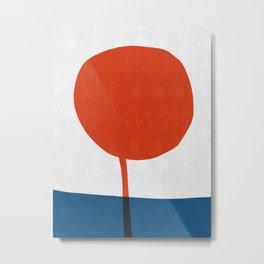 Minimalist blue and red I Metal Print