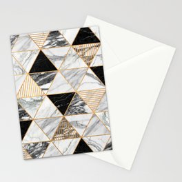Marble Triangles 2 - Black and White Stationery Cards