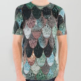 SUMMER MERMAID SEAWEED MIX by Monika Strigel All Over Graphic Tee