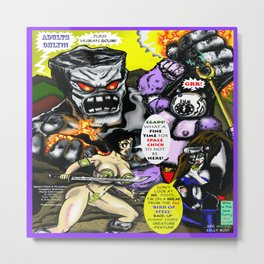 Cover page of Tex Watt's  (UNCENSORED) SUNDAY COMIX POP-ART! Metal Print