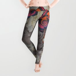 African lady profile on Bark Leggings